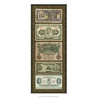 Foreign Currency Panel I Poster Print by Vision studio (9 x 21)