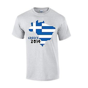 Grekland 2014 land flagga T-shirt (grå)