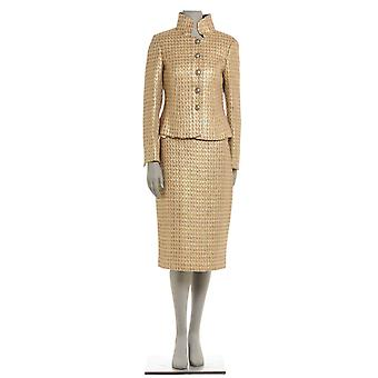 Botondi 2105B 94162 gold ladies wool dress