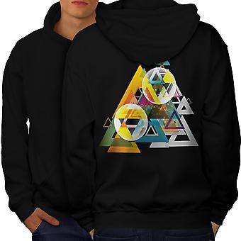 Triangle dans le dos Cluster hommes BlackHoodie | Wellcoda