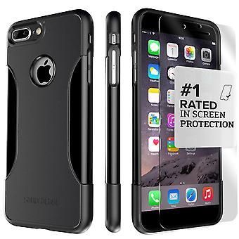 SaharaCase iPhone 8 Plus & 7 Plus Escorpión Negro caso, clásico paquete de Kit de protección con vidrio templado de ZeroDamage