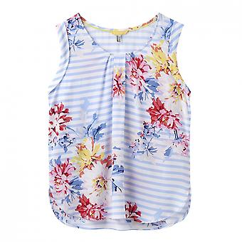 Joules Joules Alyse Printed Capped Sleeve Shell Womens Top (Y)