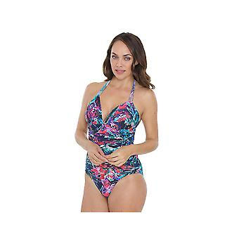 Seaspray SY007049 Women's Multicolour Motif Costume One Piece Swimsuit