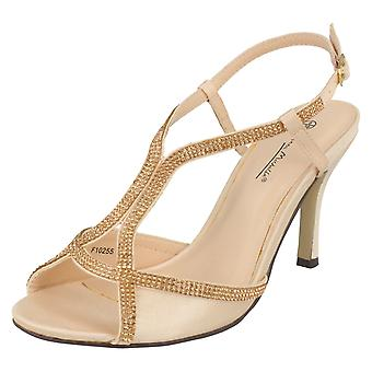 Ladies Anne Michelle Diamante T-Bar Sandals F10255