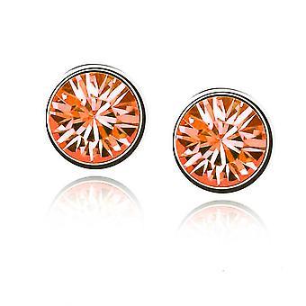 Womens små Crystal Stud Örhängen Smycken brand Orange