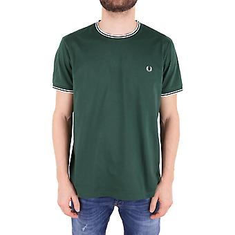 Fred Perry men's FPM158825426 green cotton T-Shirt