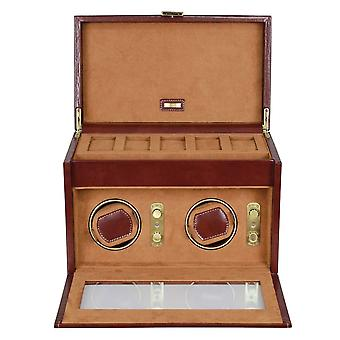 Leather Heritage Chestnut Double Watch Winder