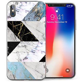 iPhone-X Marmor Scheiben TPU Gel Tasche