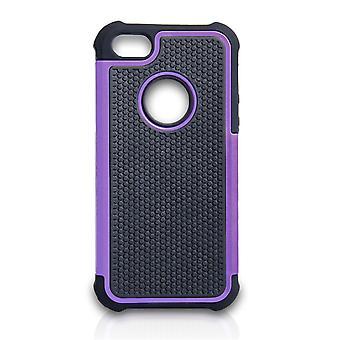 Yousave Accesorios Iphone 5 y 5s caja combinada - púrpura