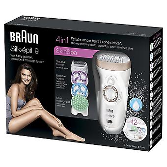 Braun Silk Epil 9-961v Women's Skin Spa Wet and Dry Cordless Epilator with 12 Extras
