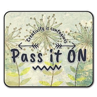 Pass It On  Non-Slip Mouse Mat Pad 24cm x 20cm | Wellcoda