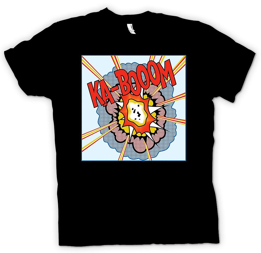 Mens T-shirt-KaBoom - Lichentstein - Pop Art