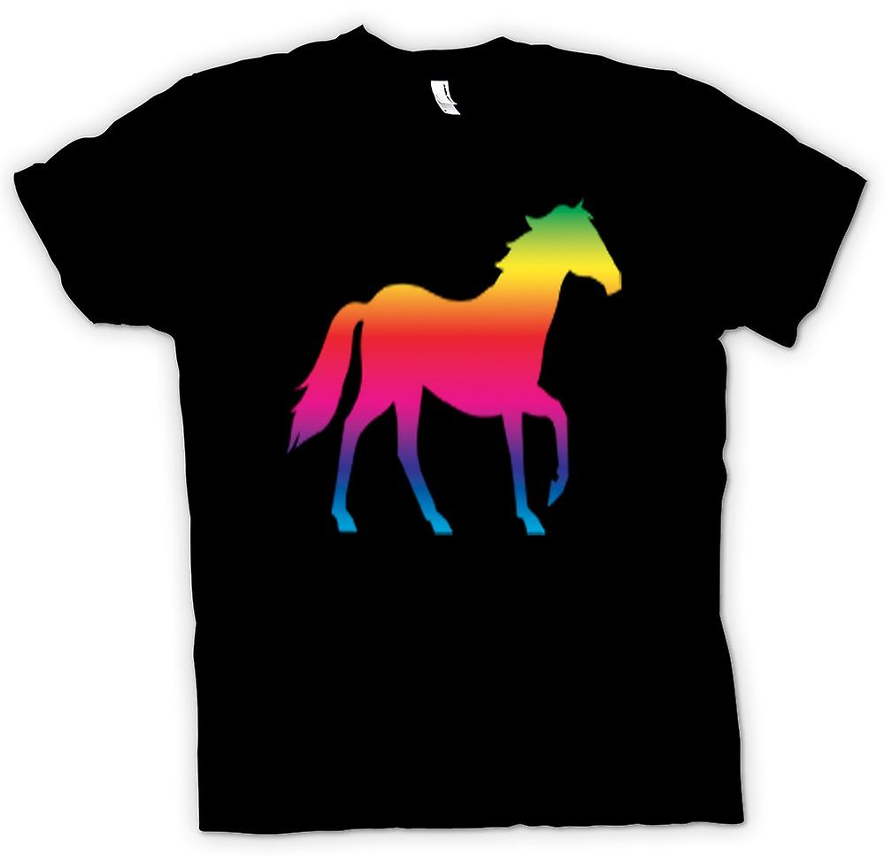 T-shirt-Rainbow Design cavallo Canter psichedelico