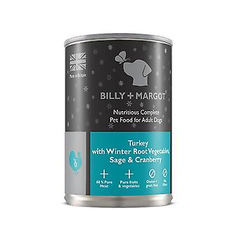 Billy And Margot Dog Food Turkey With Winter Veg (Teal) 395g