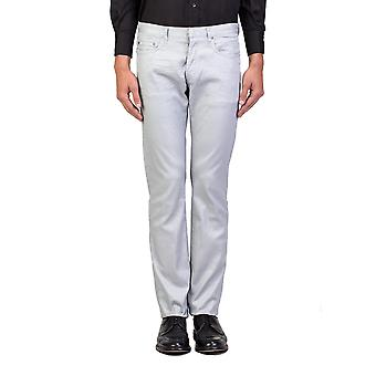 Dior Homme mäns Slim Fit Jeans byxor Silver