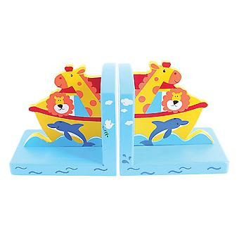 Bigjigs Toys Wooden Bookends (Noah's Ark)