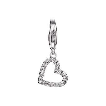 ESPRIT pendant of charms silver brilliance heart heart ESCH91299A000
