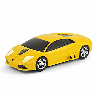 Official Lamborghini Murcielago Car Wireless Computer Mouse - Yellow