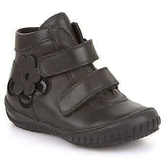 Froddo Girls G3110100 School Boots Black Leather