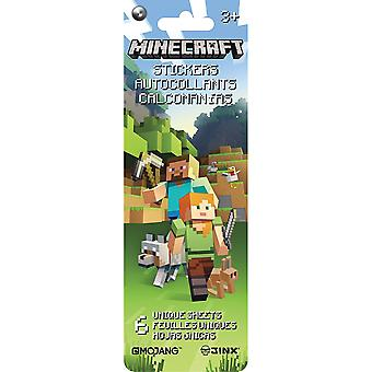 Minecraft Flip Pack Stickers 6 Sheets