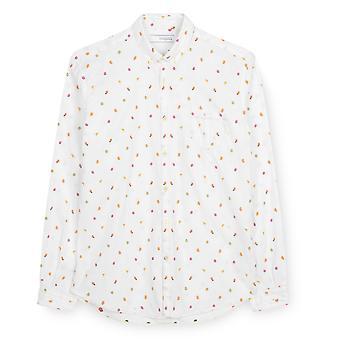 Fabio Giovanni Laurito Shirt - Mens Italian Casual Stylish Shirt 100% Cotton - Long Sleeve