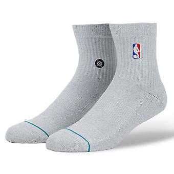 Stance NBA Logoman Qtr Socks - Heather Grey