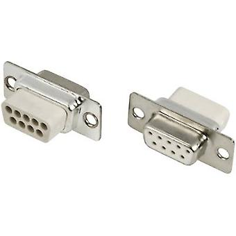 MH Steckverbinder MHDBC09SS-NW D-SUB-Buchsen 180 ° Anzahl der Pins: 9 Crimp 1 PC