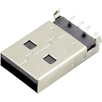 USB A Plug Socket, horizontal mount DS1098-BN0 Connfly Cont