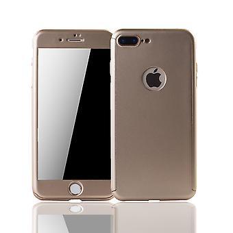 Apple iPhone 7 plus caja protectora caso del teléfono celular tapa oro de cristal de protección de tanque