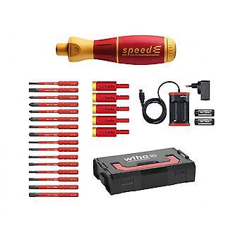 Wiha Werkzeuge Geschwindigkeit E-Schraubendreher elektrisch isolierte Schraubendreher Kit, 26Pc