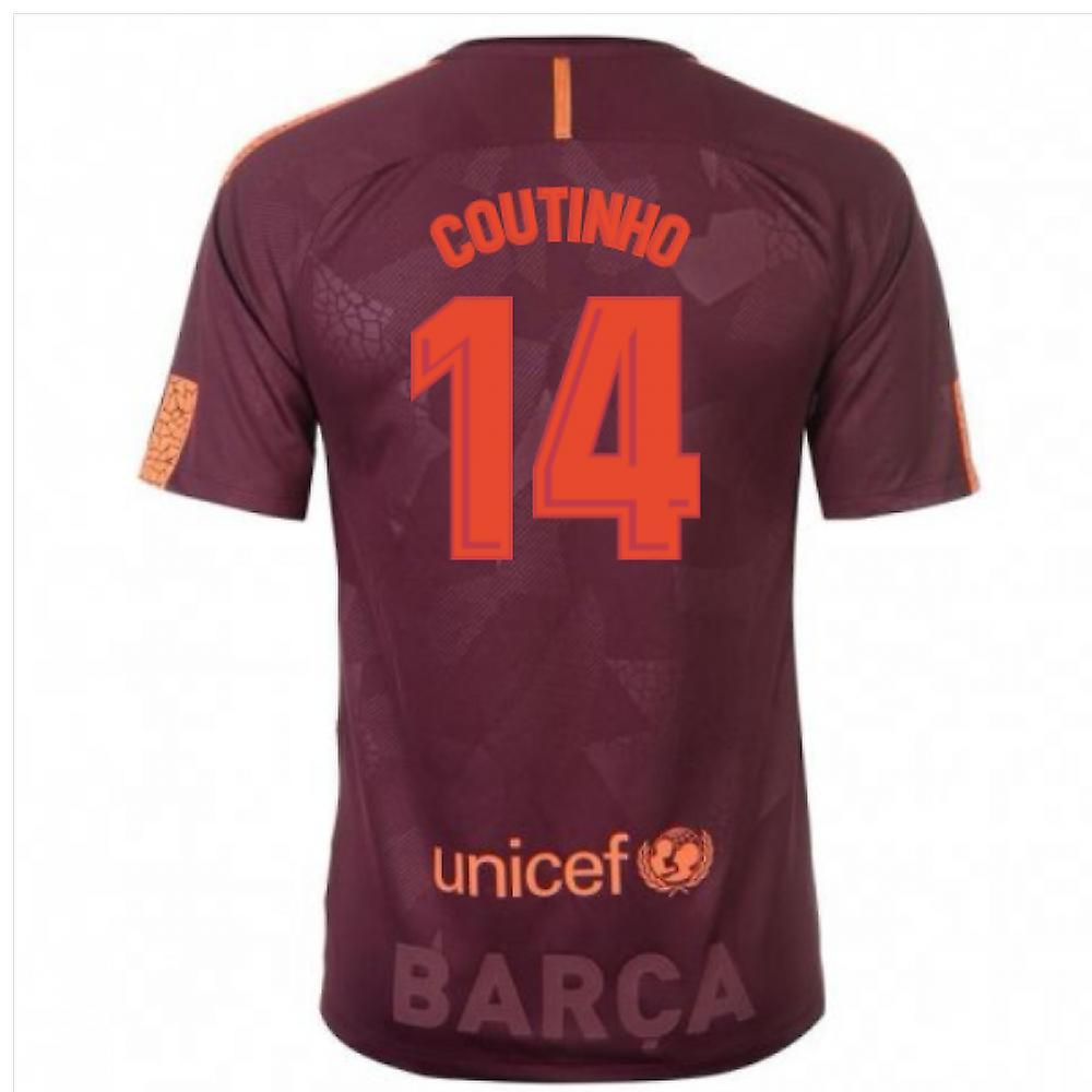 2017-18 Barcelona Nike Third Shirt (Coutinho 14)