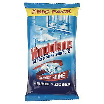 Verre Windolene & Surfaces brillantes 30 lingettes grands
