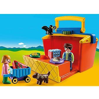 Playmobil 1.2.3 medbringe marked Stall