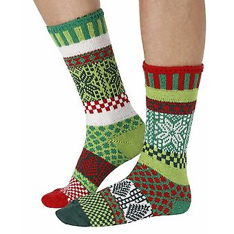 Mistletoe recycled cotton multicolour odd-socks | Crafted by Solmate