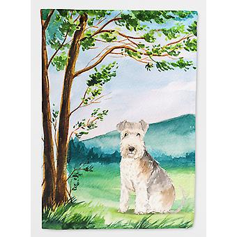 Carolines Treasures  CK2567GF Under the Tree Lakeland Terrier Flag Garden Size