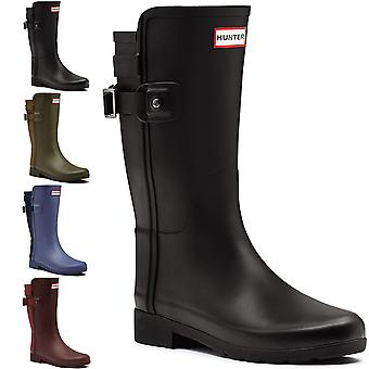 Womens Hunter Original Refined Back Strap Short Wellington Snow Rain Boot