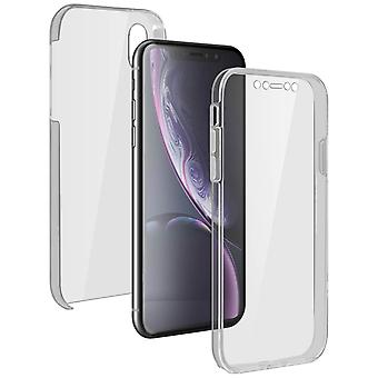 Silicone case + back cover in polycarbonate for Apple iPhone XR - Ultra clear