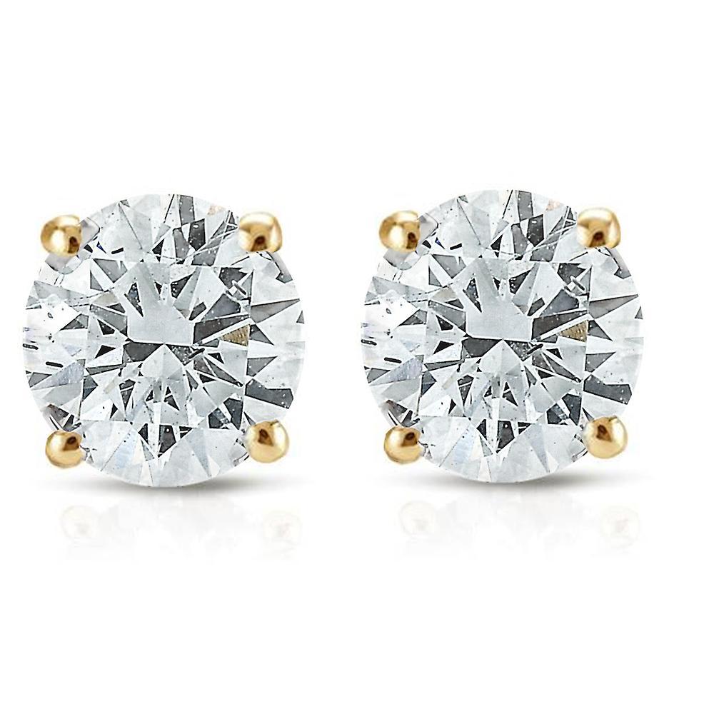 1 2ct Diamond Studs 14K jaune or