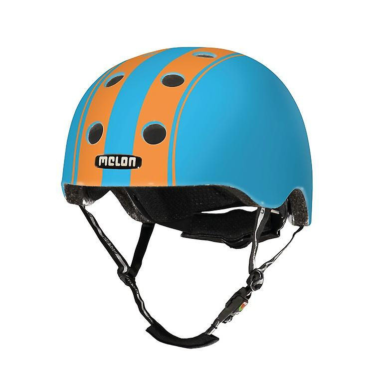 Le casque melon vélo urbain actif Stripetease     double Orange bleu