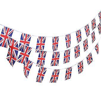 14PC Union Jack-Flagge rechteckig Bunting Garland für nationale Feierlichkeiten TRIXES