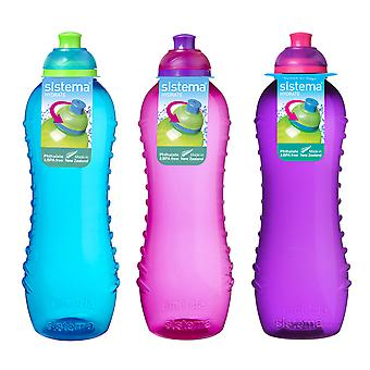 Sistema Twist 'n' Sip Bottles 620ml Blue Pink Purple
