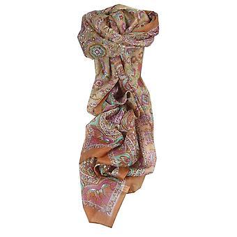 Mulberry tradisjonelle lang silkeskjerf Kirin kobber av Pashmina & Silk