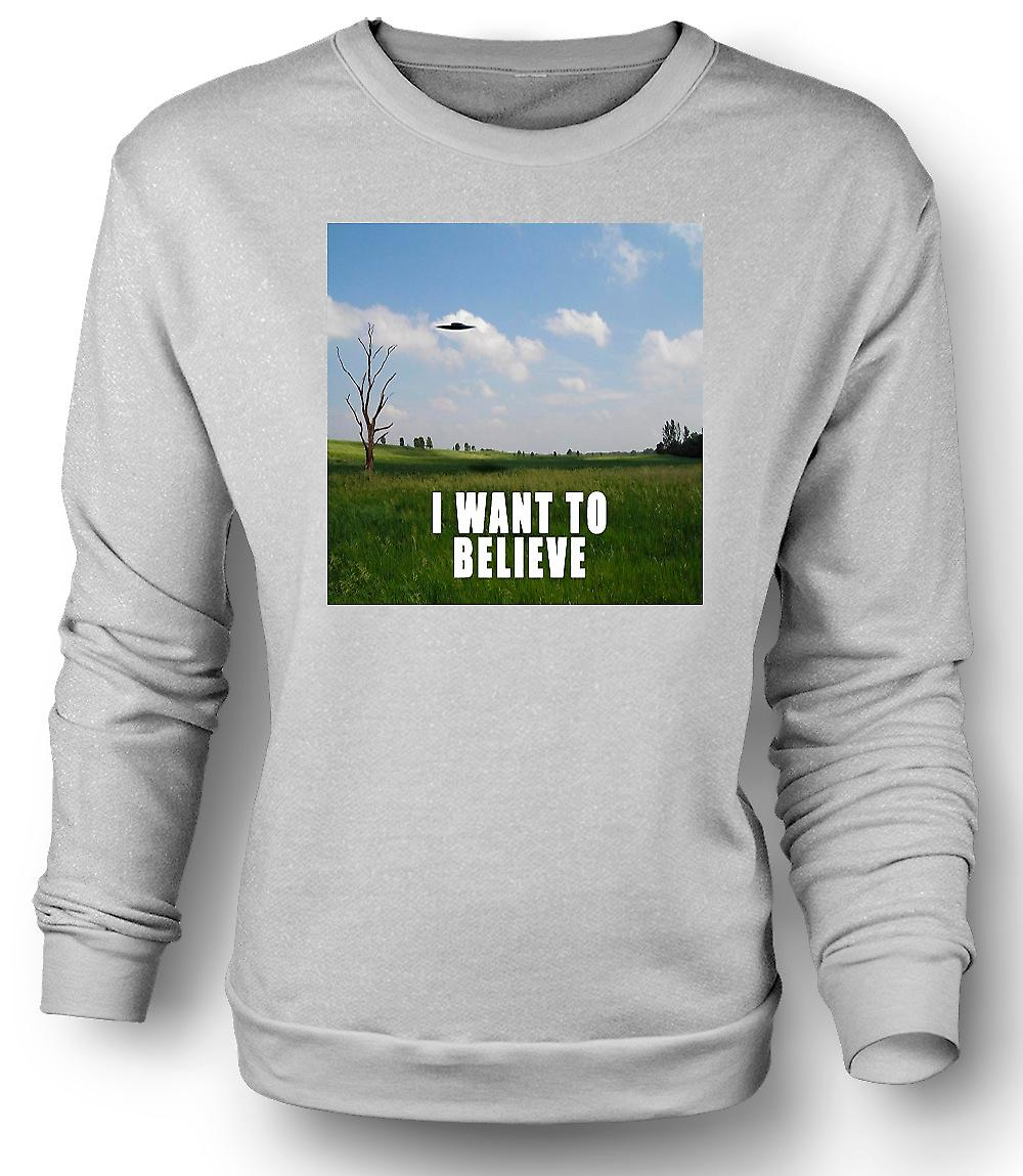 Mens Sweatshirt I believe - Colour - Funny