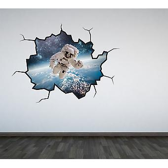 Full Colour Astronaut Cracked Wall Sticker V2