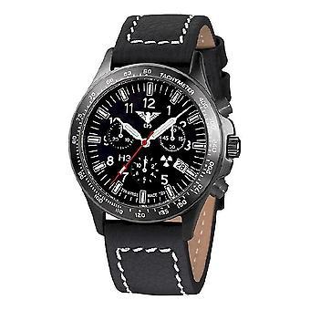 KHS watches mens watch black platoon titanium chronograph KHS. BPTC. LBB