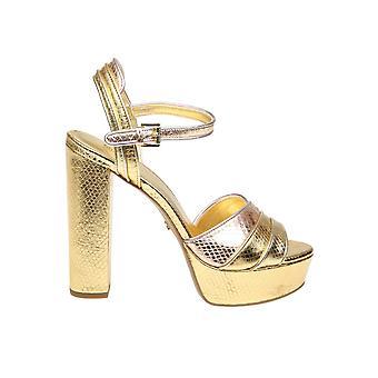 Michael Kors Gold Leather Sandals