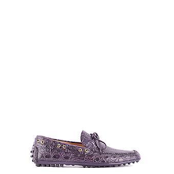 Car Shoe Purple Leather Loafers