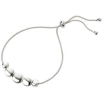 Beginnings Disc Embellished Slider Bracelet - Silver