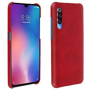 Funda de protección Xiaomi mi 9, resistente, cuero sintético, Vintage, rojo