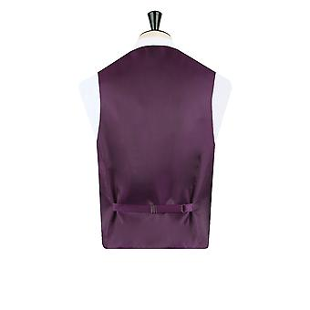 Dobell Mens Purple Paisley Waistcoat Regular Fit 5 Button Wedding